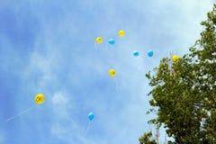 Celebrations. Sky with many ball Stock Image