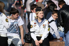 Celebrations Victory Day in Moscow Stock Photos