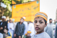 Celebrations way Rifai Sufi Egypt. Egyptian children in celebration of Sufi Sheikh Rifai in Cairo Royalty Free Stock Images