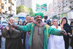 Celebrations way Rifai Sufi Egypt. Egyptian man in the celebration of Sufi Royalty Free Stock Images