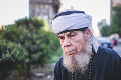 Celebrations way Rifai Sufi Egypt. Egyptian man in the celebration of Sufi Royalty Free Stock Image