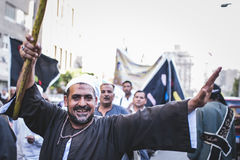 Celebrations way Rifai Sufi Egypt. Egyptian man in the celebration of Sufi Royalty Free Stock Photography