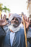 Celebrations way Rifai Sufi Egypt. Egyptian man in the celebration of Sufi Stock Photography