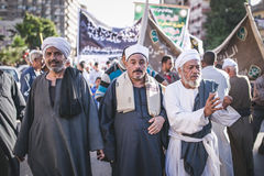 Celebrations way Rifai Sufi Egypt. Egyptian man dancing in celebration of Sufi Stock Image