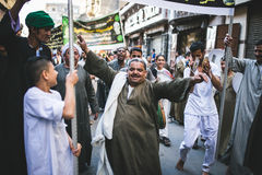 Celebrations way Rifai Sufi Egypt. Egyptian man dancing in celebration of Sufi Royalty Free Stock Photos