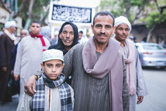 Celebrations way Rifai Sufi Egypt. A father and son in the celebration of Sufi Royalty Free Stock Images