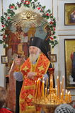 Celebrations and worship in the Orthodox Church of the Transfiguration in Gomel (Belarus). Stock Photo