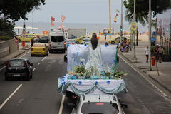 Celebrations of Yemanja at Copacabana Beach Royalty Free Stock Image
