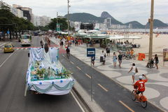 Celebrations of Yemanja at Copacabana Beach Royalty Free Stock Images