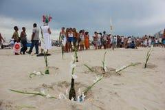 Celebrations of Yemanja at Copacabana Beach Royalty Free Stock Photo