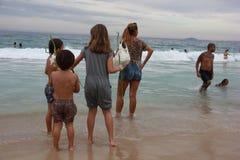 Celebrations of Yemanja at Copacabana Beach Stock Photo