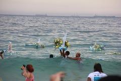 Celebrations of Yemanja at Copacabana Beach Stock Photography