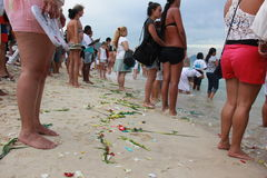 Celebrations of Yemanja at Copacabana Beach Stock Photos