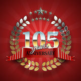 Celebrative Golden Frame for 105th Anniversary Royalty Free Stock Photo