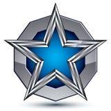 Celebrative metallic geometric symbol, stylized Royalty Free Stock Photography