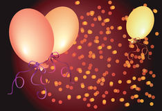 Celebratory abstract background  with balloons Stock Photos