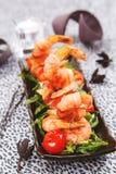 Celebratory appetizer of fried shrimp Royalty Free Stock Photo