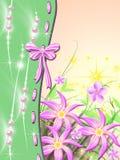 Celebratory background. Festive solar background with bow and brilliance Stock Image