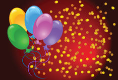 Celebratory  background with balloons Stock Image