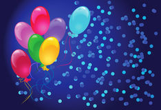 Celebratory  background with balloons Stock Images