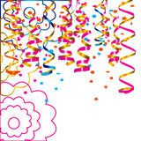 Celebratory background with confetti Stock Image