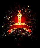 Celebratory background with a crown Royalty Free Stock Photos