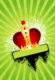Celebratory background with a crown. Beautiful celebratory background with a crown for a congratulatory card Royalty Free Stock Image