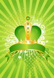 Celebratory background with a crown Stock Photography