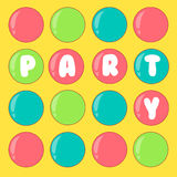 Celebratory background. Disco. Party. Balloons on a yellow background Royalty Free Stock Images