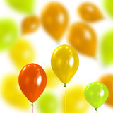 Celebratory Background From Coloured Balloons Royalty Free Stock Images