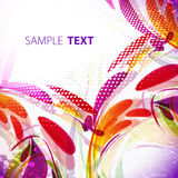 Celebratory background with splashes. Abstract bright multicolor background with copy space royalty free illustration