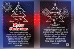 Celebratory background with symbols of Christmas and New Year Stock Photography