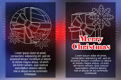 Celebratory background with symbols of Christmas and New Year.  Stock Photography