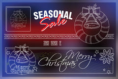Celebratory background with symbols of Christmas and New Year.  Royalty Free Stock Images