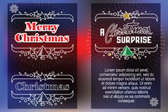 Celebratory background with symbols of Christmas and New Year Royalty Free Stock Photos