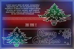 Celebratory background with symbols of Christmas and New Year Stock Image