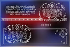 Celebratory background with symbols of Christmas and New Year.  Stock Images