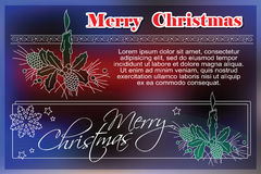 Celebratory background with symbols of Christmas and New Year.  Royalty Free Stock Photo