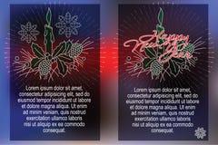 Celebratory background with symbols of Christmas and New Year Stock Photo