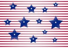 Celebratory bakgrund för självständighetsdagen och patriotdagen av Amerikas förenta stater vektor stock illustrationer