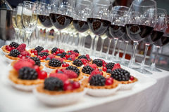 Celebratory banquet at the event Stock Image