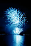Celebratory blue t firework Royalty Free Stock Photography