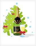 Celebratory bottle of champagne Stock Images