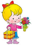 Celebratory bouquet. Isolated clip-art and children's illustration for yours design, postcard, album, cover, scrapbook, etc Royalty Free Stock Image
