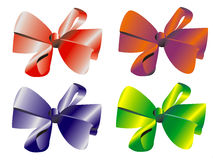 Celebratory bow vector. Decorative bow for a gifts or presents Stock Photos