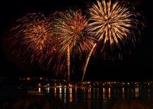 Celebratory bright firework Royalty Free Stock Photography