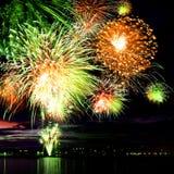 Celebratory bright firework Stock Images