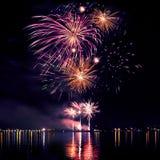 Celebratory bright firework royalty free stock images