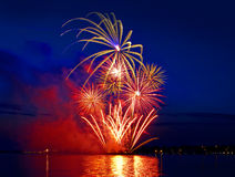 Celebratory bright firework Royalty Free Stock Images