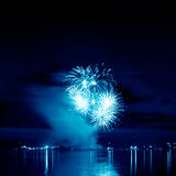 Celebratory bright firework Royalty Free Stock Photos